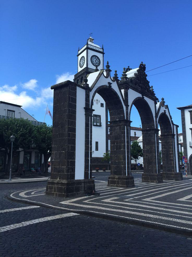 #VisitPortugal #TravelToAzores #Azores Portas da Cidade (City Doors) #PontaDelgada #SaoMiguel