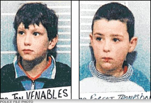 Jon Venables and Robert Thompson were ten-years-old when they abducted two-year-old James Bulger from a shopping area in Northern England in 1993. The two boys walked around with the toddler for hours before finally beating him to death and leaving him on the railroad tracks, his head covered with bricks. Thompson and Venables, were released to freedom when they were 18, after having served eight years in a juvenile facility.