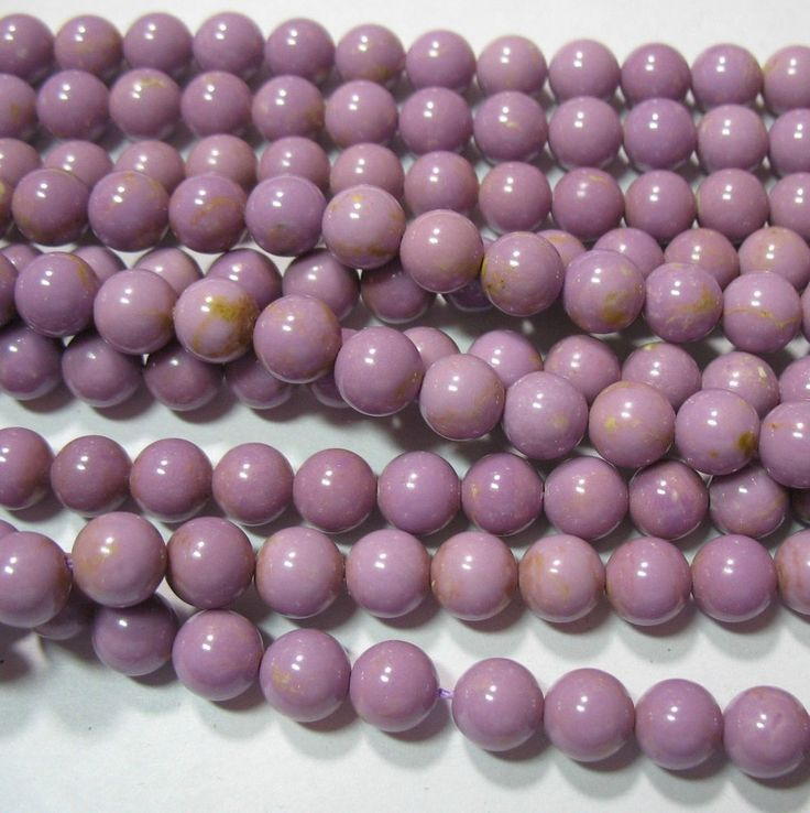 """Orchid Purple Phosphosiderite 9mm Round Beads 16"""" South American Natural Stone"""