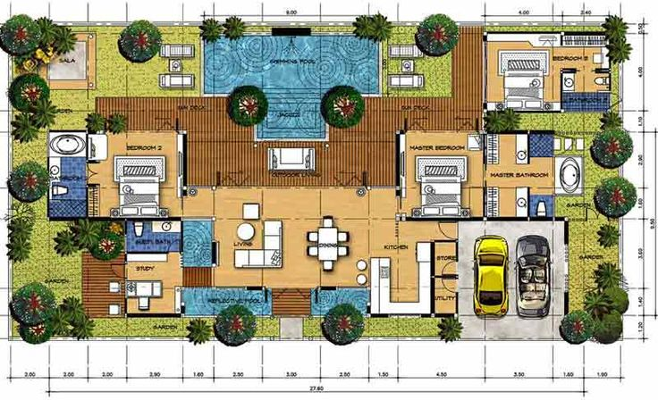 Landscaping tropical garden design 10 handpicked ideas for Balinese house plans