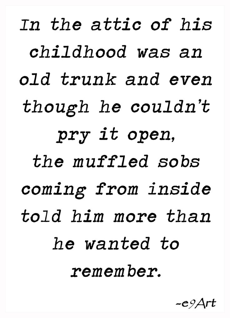 'the attic of his childhood' by e9Art (microfiction, memory, child abuse, dreams, suppressed repressed quote fiction pinlit)