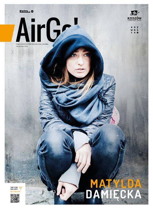 Okładka Magazynu Air Go 2/2015  Matylda Damięcka fot. Monika Szałek