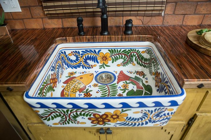 Hand Painted Apron Sink
