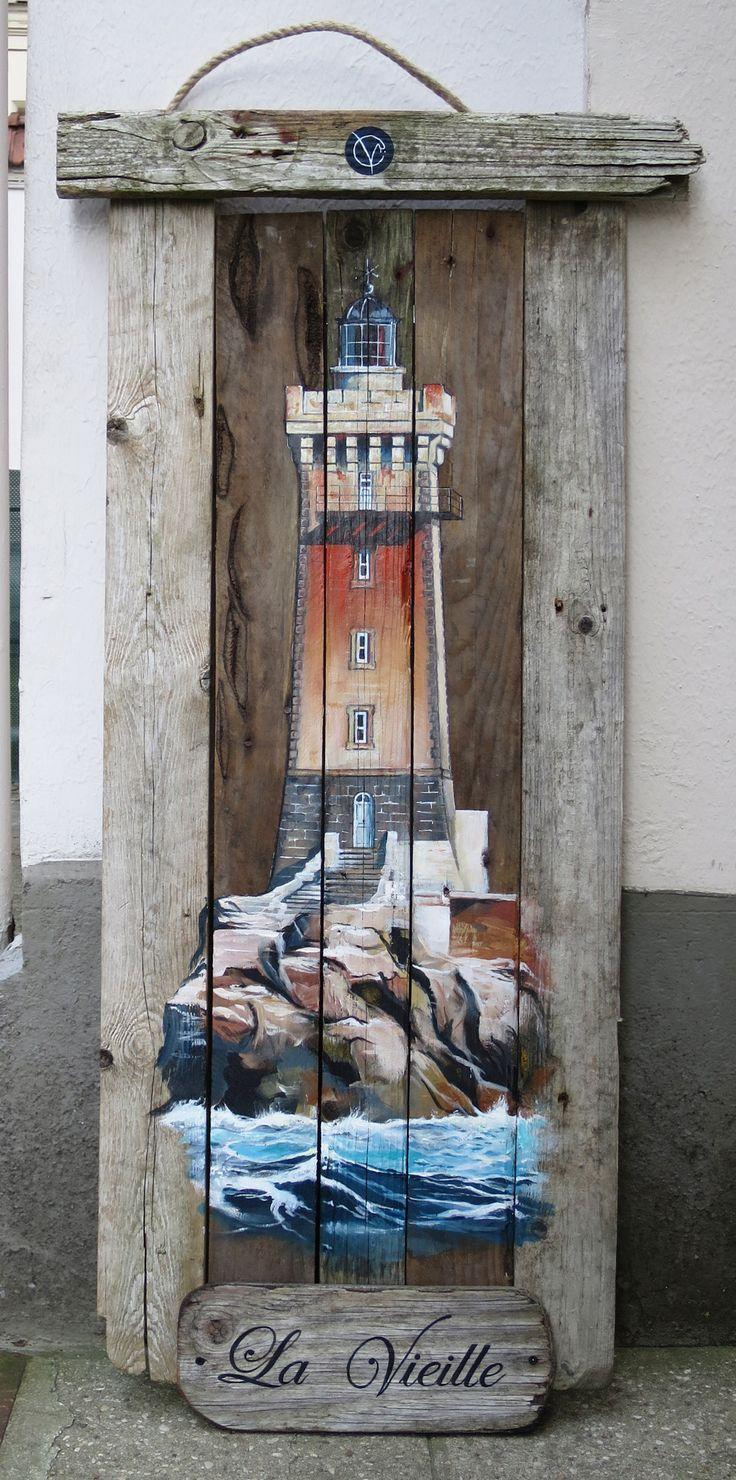 Phare la vieille finistere acrylique bois bois flott for Rue du bois flotte