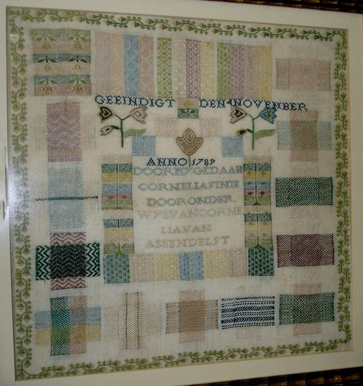.1789 Pattern Darning Sampler