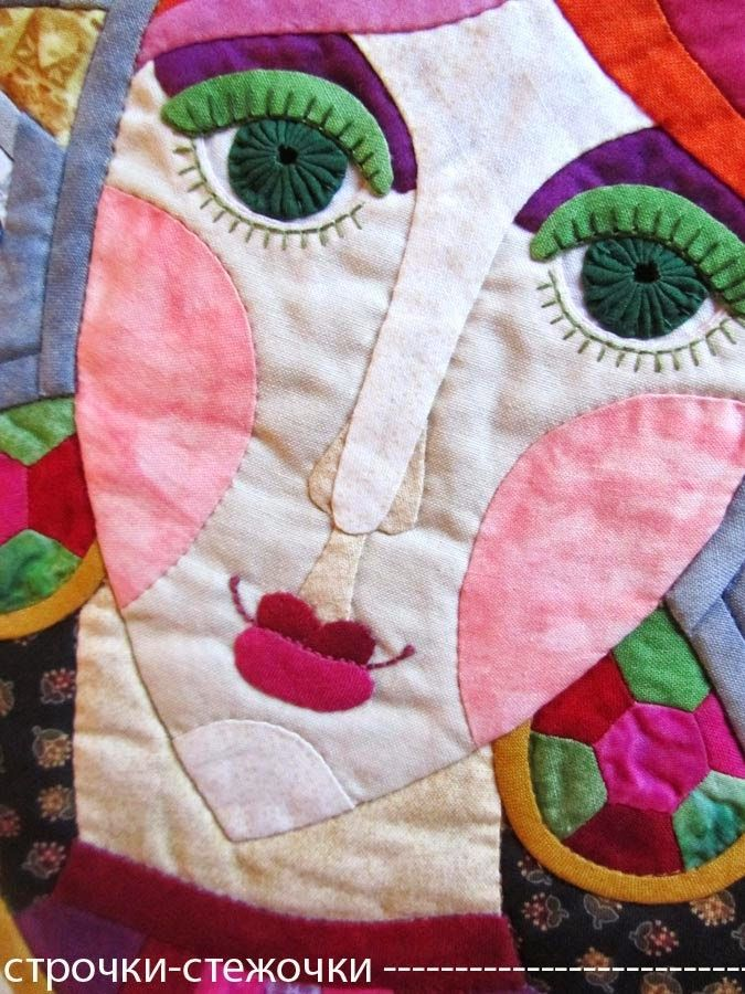 62 Best Fabric Faces Images On Pinterest Madness Quilt