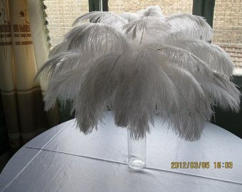 Artikel 100er Straußenfedern für Hochzeit Tafelaufsatz, Feder-Herzstück, weißen Straußenfedern, hochzeitstischdekoration AAA Rabatt