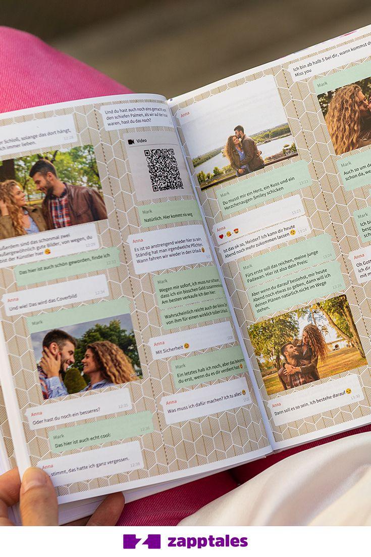 Mit zapptales kannst du deinen Whatsapp Chat als einzigartiges Buch drucken! Ink…