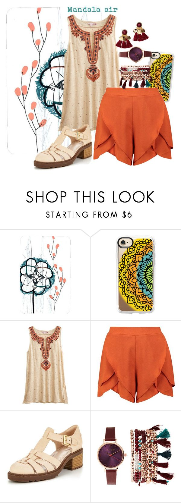 """""""mandala air"""" by mfcastillo98 ❤ liked on Polyvore featuring Casetify, Calypso St. Barth, Boohoo, Clarks and Jessica Carlyle"""