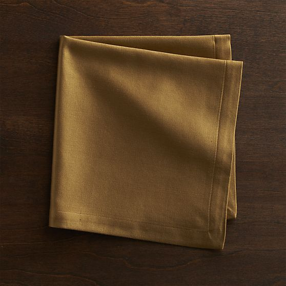 Sateen Gold Napkin  | Crate and Barrel