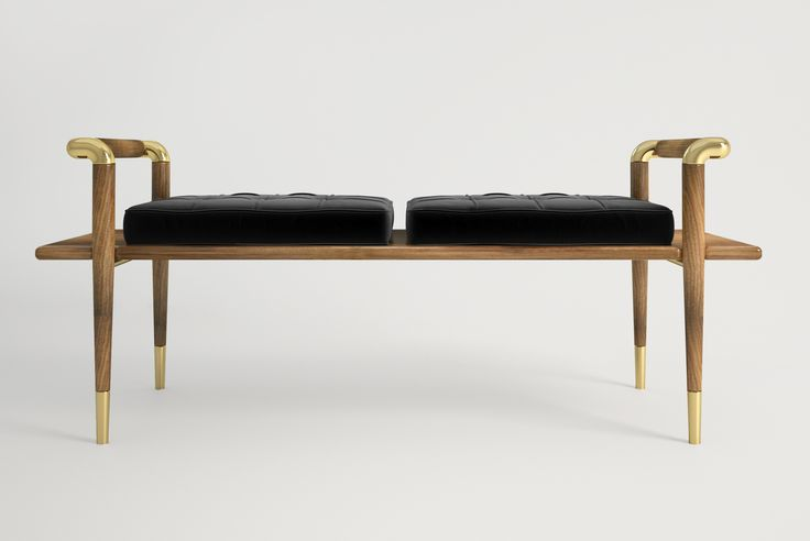 Klem bench contemporary furniture piece with straight for Straight line interiors