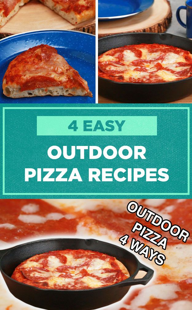Make pizza while camping—or just on the backyard grill—with these easy recipes!