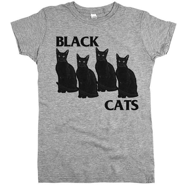 "Put on our ""Black Cats"" t-shirt, walk under a ladder, and show all those superstitious dog people that black cats are pretty awesome."