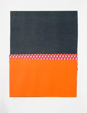 "Saatchi Art Artist Alfonso Postigo; Collage, ""Black, orange, diamonds"" #art"