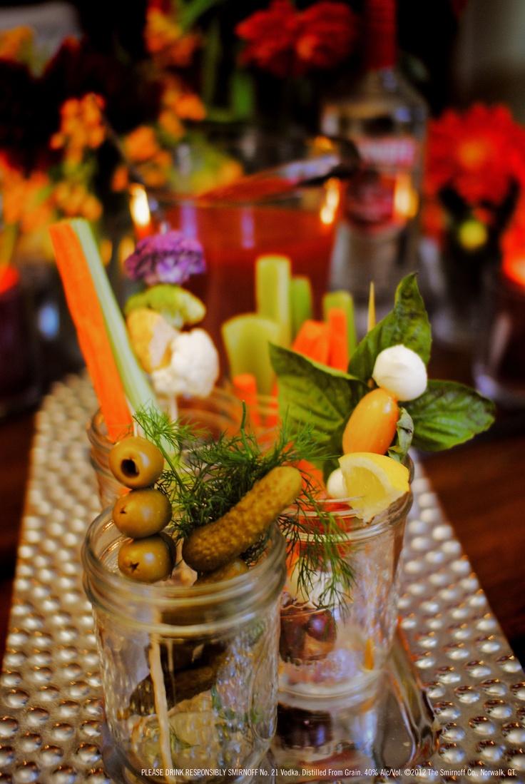 Set your bar full of garnish! Take garnish sticks, fill ...
