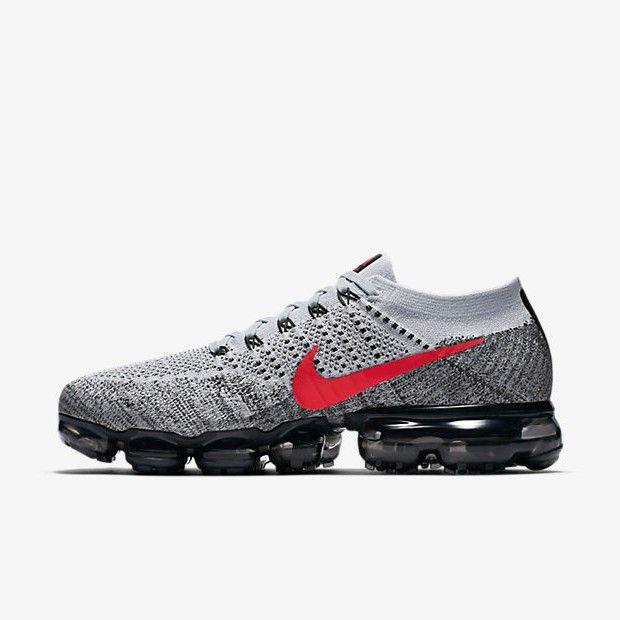 621f86dbddddc Nike Air Vapormax Grey/Red in 2019 | Wish List | Nike air vapormax ...