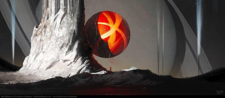 Red Balloon, Christopher Balaskas on ArtStation at http://www.artstation.com/artwork/red-balloon