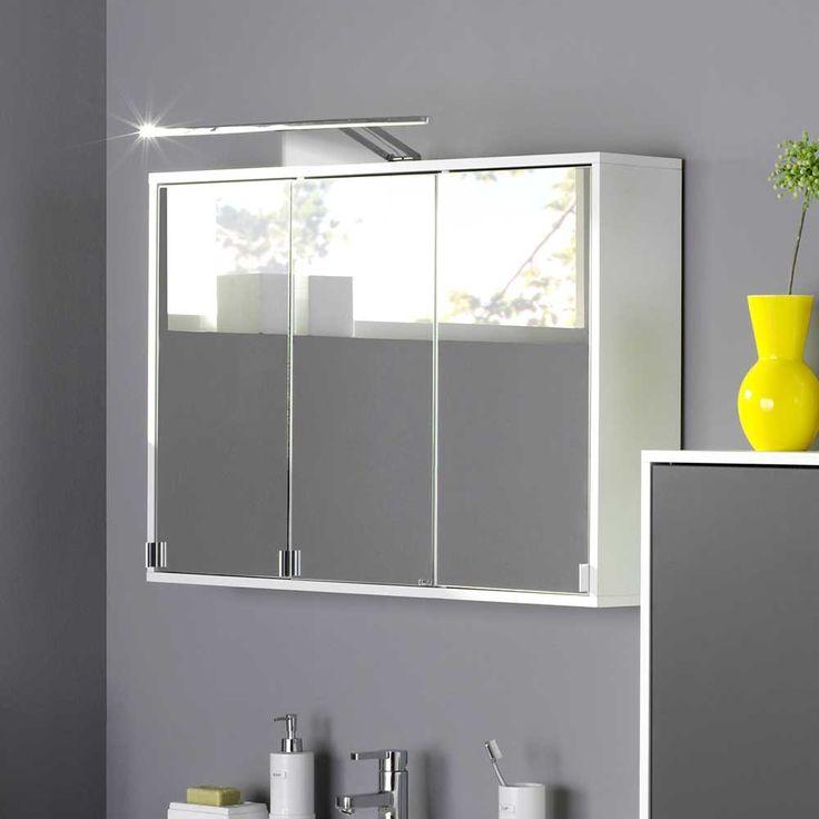 Great D Spiegelschrank in Wei LED Aufbauleuchte Jetzt bestellen unter https moebel ladendirekt de bad badmoebel spiegelschraenke uid udaaf c df bee