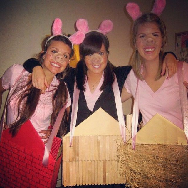 Pin for Later: 3 of a Kind: 21 Trio Costumes to Wear With Your Best Friends 3 Little Pigs