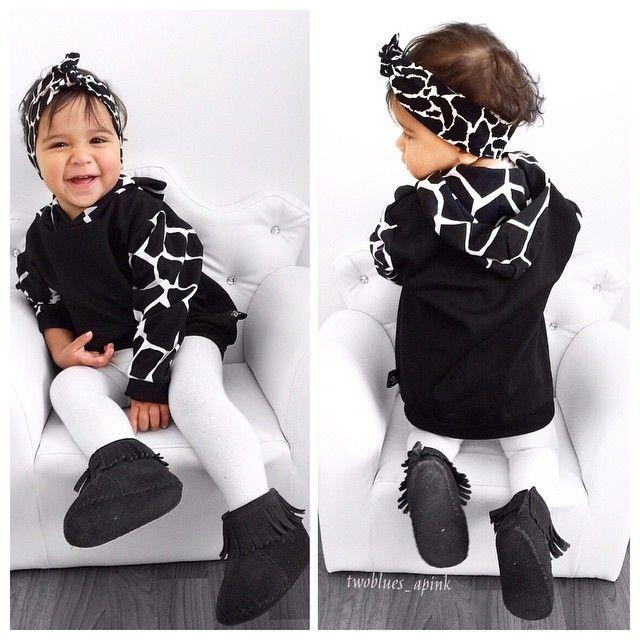 'Wild life' giraffe hoodie from Little Trojan Children Clothing