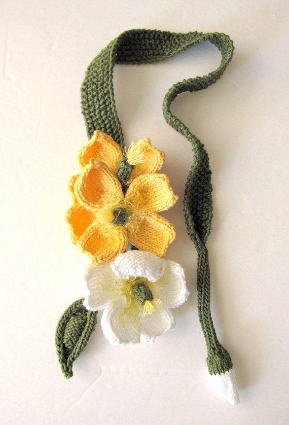 Die besten 17 Bilder zu Knit flowers auf Pinterest | Gestrickte ...