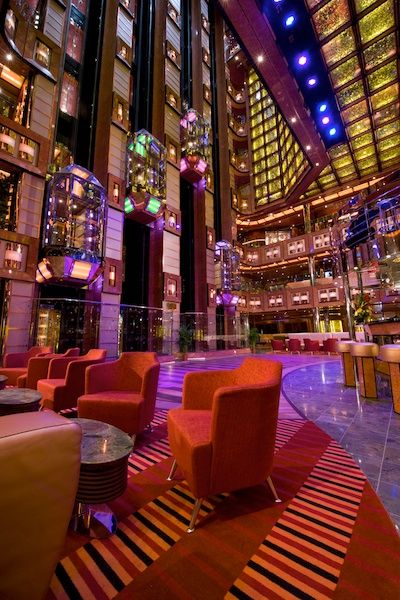The Atrium onboard Carnival Dream is the central hub of activity. You will pass through this multi-story atrium frequently throughout your Carnival Dream cruise on your way to the bars, restaurants, theater and casino. 	Carnival Dream Photos