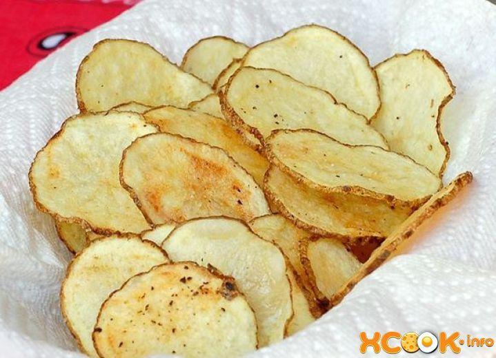 как быстро сделать картофельные чипсы в микроволновке