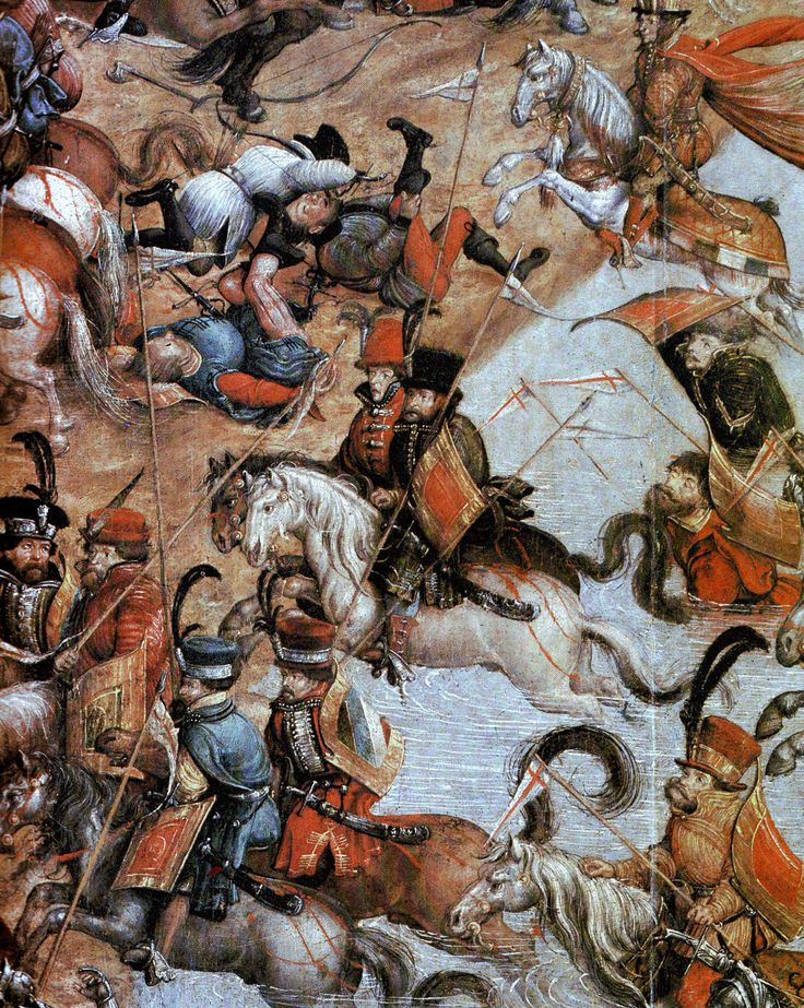 Detail of Polish Hussars at The Battle of Orsha (Orsza), 1514