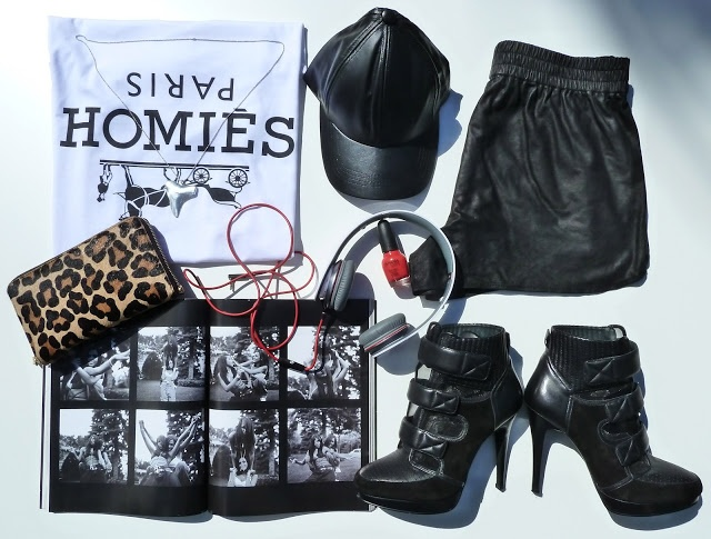 STYLE SESSIONS: FOR THE HOMIES details on the blog www.mammatuppy.com #ootd #wiwt #fashion #style #stylesession #leathercap #leopardprint #leathershorts #beatsbydre