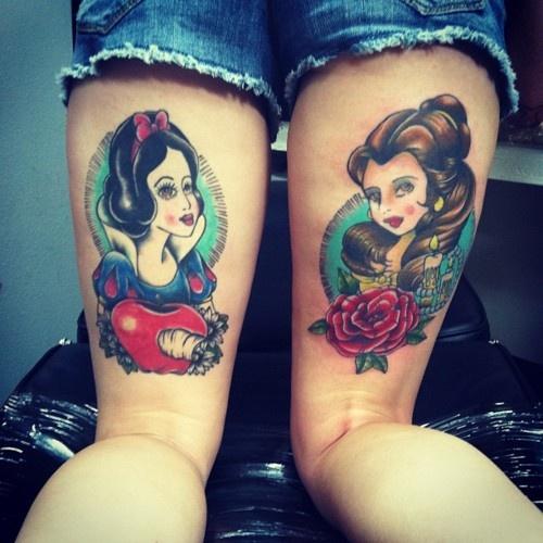 Disney princess tattoos for Princesas disney tattoo