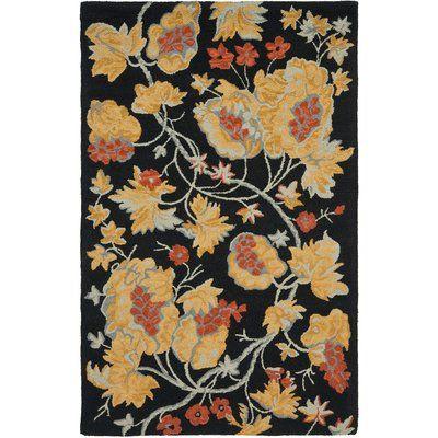 Safavieh Blossom Wool Black / Multi Contemporary Rug Rug Size: Scatter / Novelty Shape 2' x 3'