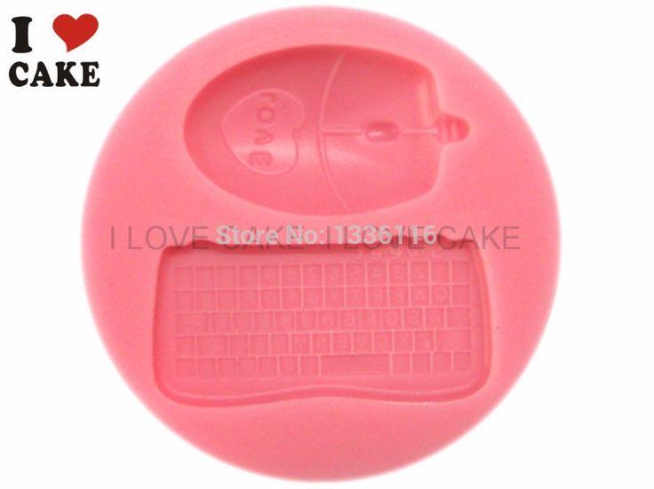 Teclado mouse bolo silicone mold cozinha ferramentas de decoração do bolo ferramentas forma de silicone moldes de cocina silicona confeitaria alishoppbrasil