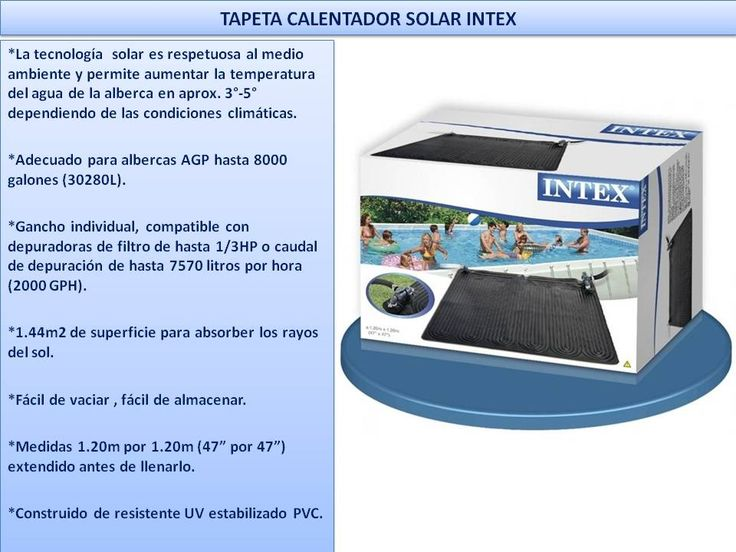 Calentador Solar Para Agua De Albercas Intex Best Way Easy - $ 513.00 en Mercado Libre