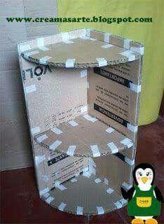 Creaciones con cajas de cartón.