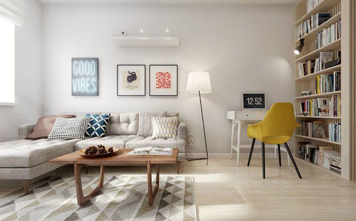 Living Room Inspiration: Mid-Century Apartment in St. Petersburg