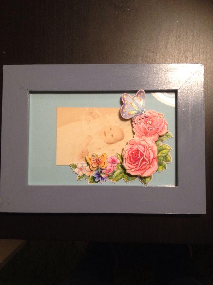 Endnu et baby billede, også pyntet med 3D blomster