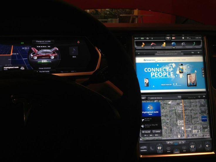Neosperience powers #Tesla Model S! :)