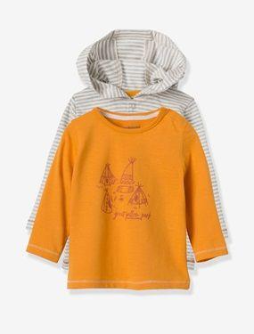 Lot de 2 T-shirts bébé garçon manches longues  - vertbaudet enfant