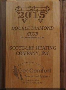 Local St. Louis business, Scott-Lee Heating Company, Inc., is one of the nation's premier geothermal installers, having earned the Double Diamond award during the 20th Annual Enertech Global Dealer Meeting held in Cancun, Mexico.