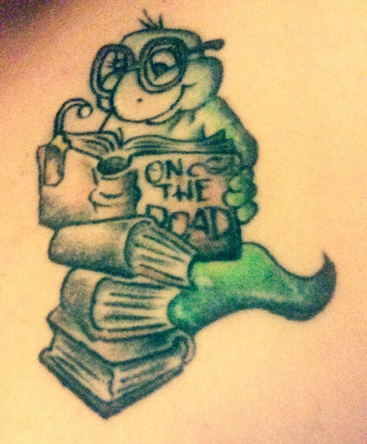 bookworm tattoo on the road by jack kerouac literary tattoo ink pinterest roads. Black Bedroom Furniture Sets. Home Design Ideas