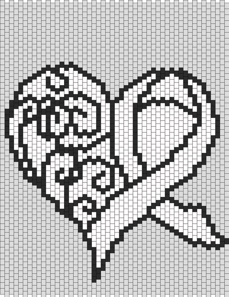 Blank Awareness Ribbon Heart bead pattern