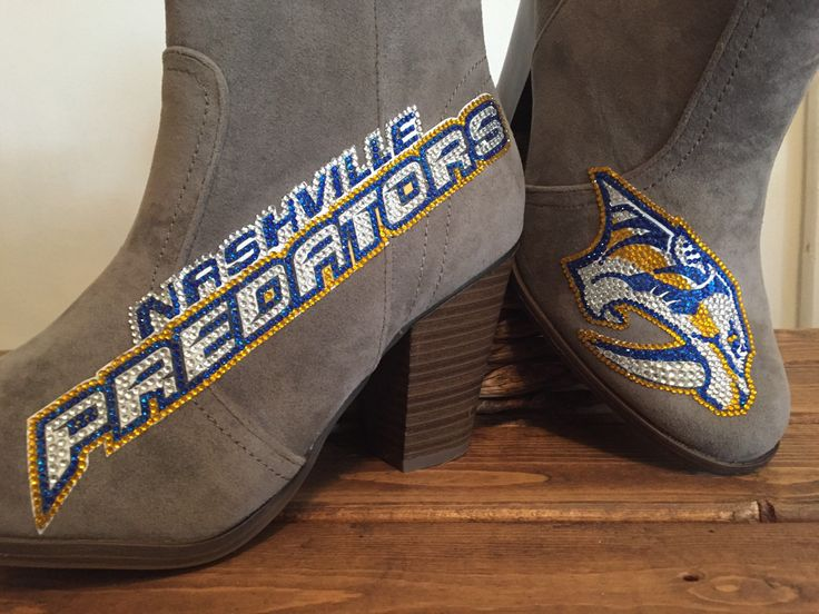 Nashville Predators Boots by VecchiTesoriDesigns on Etsy https://www.etsy.com/listing/534433892/nashville-predators-boots