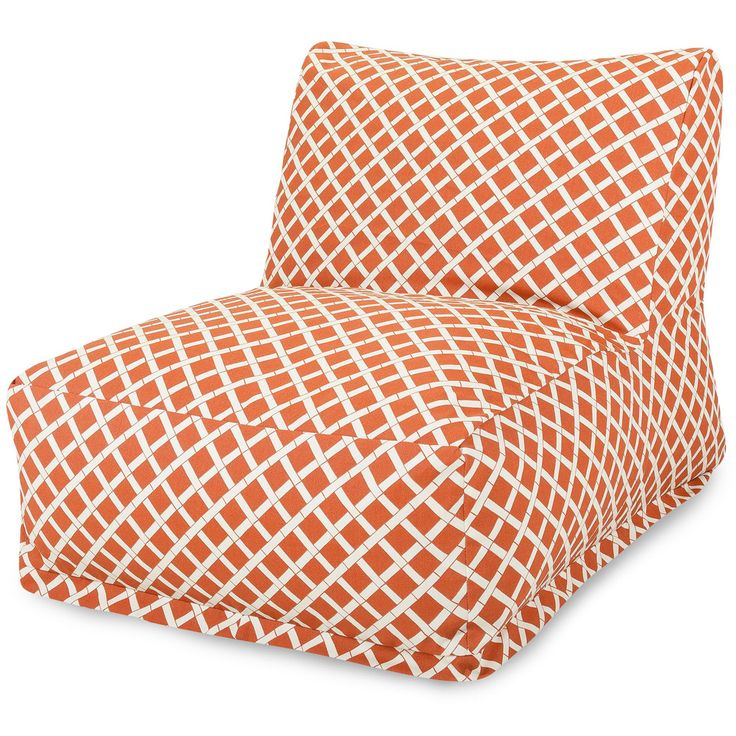 Burnt Orange Bamboo Bean Bag Chair Lounger - Giddet