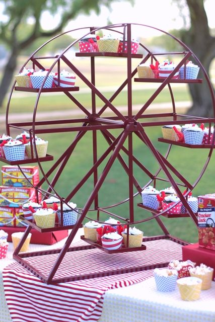 Ferris Wheel Revolving Cupcake Stand in 2019  Study