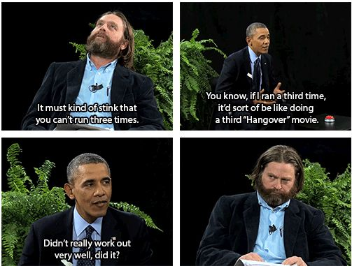 "Obama Appears As Guest On Zach Galifinakis's ""Between Two Ferns"""