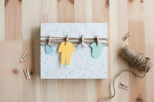 Cute Gift Wrapping Idea for Baby Shower! I am so doing this!