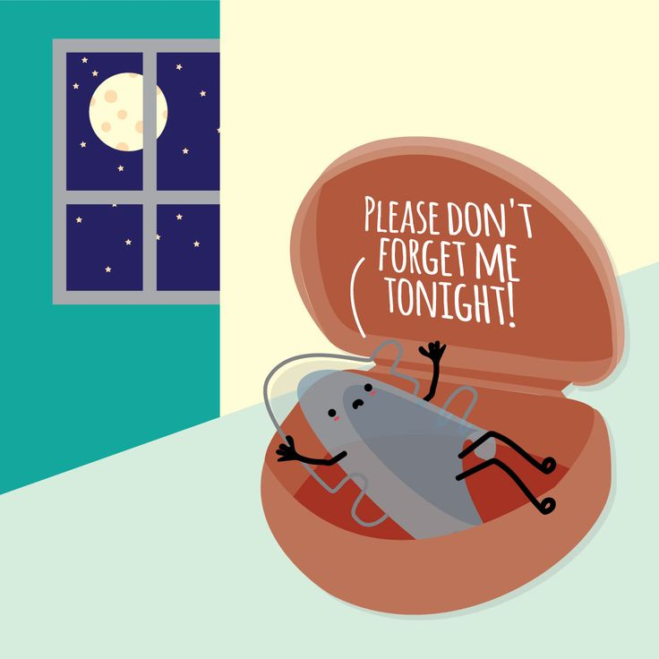 KEEPING YOUR TEETH STRAIGHT is so easy you can literally do it in your sleep! Just remember to wear your retainer at night!
