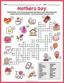 mother 39 s day crossword puzzle crosswords for kids english worksheets for kids crossword. Black Bedroom Furniture Sets. Home Design Ideas
