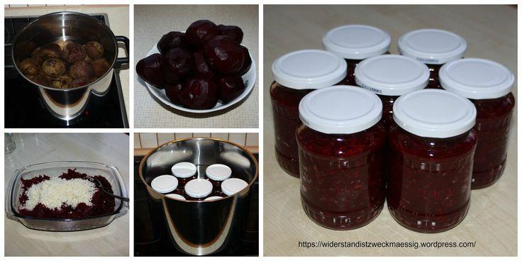 Rote Rüben Salat einkochen - haltbar machen - Rezept - Anleitung - Tutorial