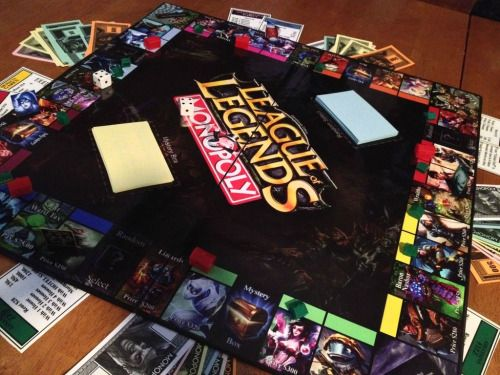 gaming design League of Legends monopoly fanmade MOBA riot games board games esports